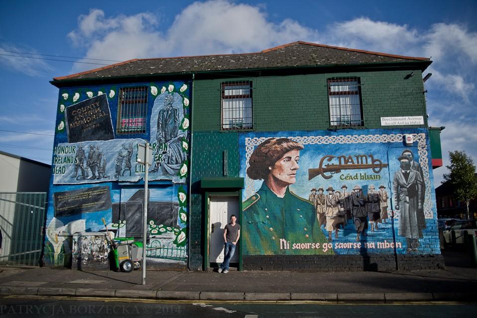 Murale w Belfaście podzielone są na trzy grupy. Pierwsza grupa to murale tworzone przez republikanów, często oddające cześć bohaterom walczącym o niepodległość Irlandii. Druga grupa to murale tworzone przez lojalistów i protestanckich mieszkańców Belfastu. Ostatnia grupa to murale nieposiadające charakteru politycznego, przykładowo - zachęcające do uprawiania sportu. Tych jest zdecydowanie najmniej.